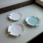 白磁&青白磁7寸輪花皿