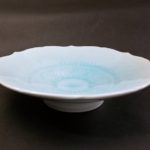 ⑦青白磁輪花浅鉢 サイズ(mm) 212×212×54 価格(税抜) 15,000円
